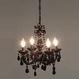 フロアライト アンティークシャンデリアランプ 4灯 ブラック 幅400 奥行400 高さ380mm 雑貨 ルームランプ 照明 シャンデリア アンティーク harda-kagu