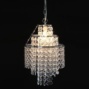 フロアライト アンティークシャンデリアランプ 1灯 クリア 幅270 奥行270 高さ400mm 雑貨 ルームランプ 照明 シャンデリア アンティーク harda-kagu