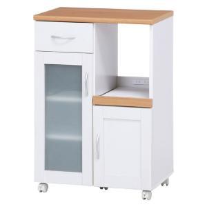 キッチンカウンター キャスター付き 幅60 サージュ 60 キッチンワゴン キッチン カウンター コンセント付き 間仕切り 食器棚 キッチンカウンター収納 作業台 harda-kagu
