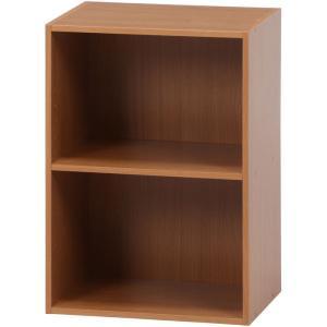 カラーボックス シェルフ 2段 2段ボックス 幅42cm 高さ59cm ナチュラル 収納ラック 本棚 本収納 カラーbox 収納ボックス ボックス棚 多目的ラック|harda-kagu