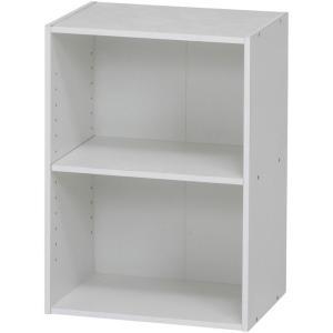 カラーボックス シェルフ 2段 2段ボックス 幅42cm 高さ59cm ホワイト 収納ラック 本棚 本収納 カラーbox 収納ボックス ボックス棚 多目的ラック|harda-kagu