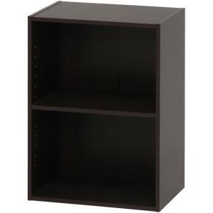 カラーボックス シェルフ 2段 2段ボックス 幅42cm 高さ59cm ブラウン 収納ラック 本棚 本収納 カラーbox 収納ボックス ボックス棚 多目的ラック|harda-kagu