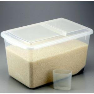 米びつ プラケース 米櫃 キャスター付き 計量カップ付き 米用 米 ケース ストッカー ボックス 15kg キッチン収納 キッチン雑貨 キッチン 雑貨 キッチン小物|harda-kagu