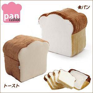 日本製 pancushion パンシリーズ クッション オットマン 足置き 足台 いす用 椅子用 フロアクッション 食パン形クッション 4枚セット|harda-kagu