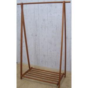 折りたたみ 折り畳み 洋服収納 コート収納 衣服収納 折りたたみA型木製ハンガーラック 幅118cm ブラウン 収納 ハンガーバー 天然木 木製 ウッド harda-kagu