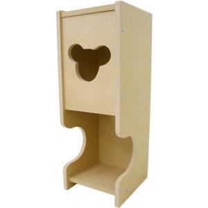 トイレ用ペーパーホルダー ペーパーラック 日本製 トイレットペーパーラック 無塗装 トイレ くま 熊 クマ かわいい 可愛い おしゃれ オシャレ お洒落|harda-kagu