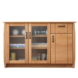 木製キャビネット 幅109cm コモド ナチュラル ga-cm-side-110|harda-kagu