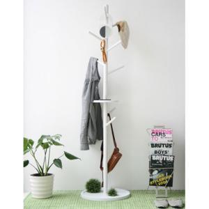 木製ポールハンガー 幅45cm コエダ ホワイト ga-koeda-hang-w harda-kagu