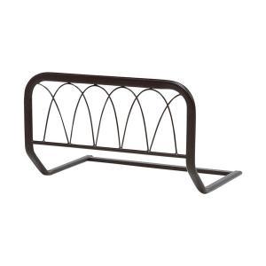 ベッドガード ダークブラウン ベッド用 ベッドの柵 柵 ガード ズレ落ち防止 転落防止 サイドガード|harda-kagu