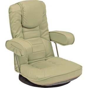 リクライニング座椅子 座椅子 リクライニング回転座椅子 ベージュ 幅60cm チェア 回転座椅子 リクライニングチェア 回転 回転チェア 回転いす リクライニング harda-kagu