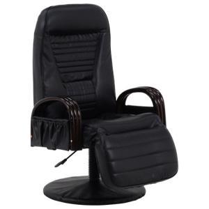リクライニング座椅子 座椅子 高座椅子 ブラック 幅65cm チェア リクライニング座椅子 回転座椅子 リクライニングチェア リクライニング 回転椅子 回転|harda-kagu