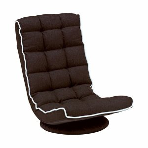 リクライニング回転座椅子 ブラウン 回転座椅子 リクライニングチェア 座椅子 リクライニング座椅子 harda-kagu