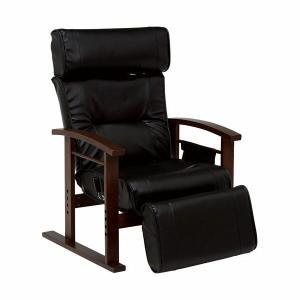 リクライニング高座椅子 ブラック リクライニングチェア 高座椅子 harda-kagu