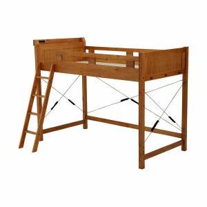 ロフトベッド ロフトベット 大人用 子供用ロフトベッド 木製ロフトベッド 木製 ブラウン ミドル ハ...