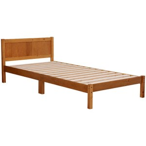 すのこベッド ベッド ベッドフレーム シングル ライトブラウン ベット シングルベッド シングルベット harda-kagu