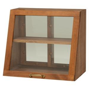 キッチンラック カウンター上ラック 両面 ガラス戸 卓上 ケース おしゃれ 調味料入れ 調味料ラック 食器棚 幅40cm 高さ35cm ダークブラウン キッチン収納 harda-kagu