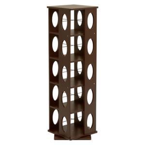 回転式タワー本棚 幅34cm高さ120cm ダークブラウン MUD-6100DBR hg-mud-6100dbr|harda-kagu