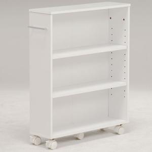 本棚 書棚 隙間収納 スライド 幅16cm 高さ68cm ホワイト 隙間本棚 スライド本棚 クローゼット本棚 クローゼットラック 隙間ワゴン 隙間棚 スリム 隙間|harda-kagu