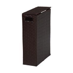 トイレラック トイレ収納 トイレ 収納 棚 トイレットペーパーボックス 幅35cm ダークブラウン トイレ棚|harda-kagu