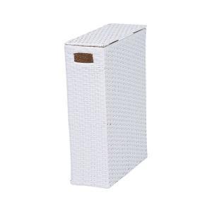 トイレラック トイレ収納 トイレ 収納 棚 トイレットペーパーボックス 幅35cm ホワイト トイレ棚|harda-kagu