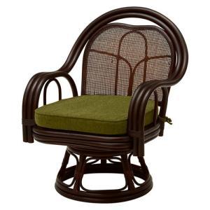 籐回転座椅子 ミドルタイプ 2脚組 RZ-522DBR hg-rz-522dbr 幅56.5 奥行60 高さ73 座面高さ33cm チェア 籐製回転座椅子 中 harda-kagu