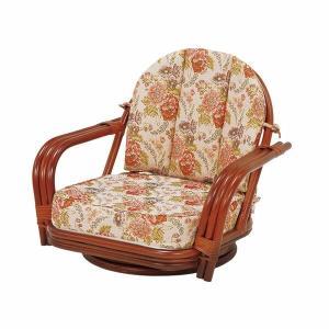籐 回転座椅子 ワイドサイズ ロー ライトブラウン 籐 籐製 ラタン 回転座椅子 回転 座椅子 harda-kagu