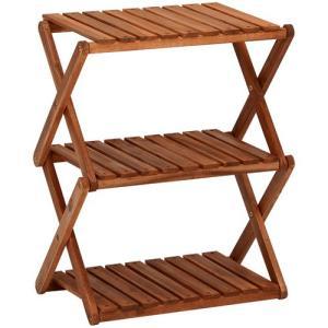オープンシェルフ 折りたたみ 木製オープンラック 幅46cm 高さ58cm ラック 収納棚 棚 シェルフ 本棚 オープンラック|harda-kagu