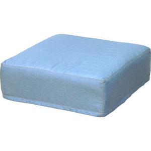 スツール クッション クッションスツール ロースツール デニム調 ライトブルー ディーン 椅子 チェア 足置き フットスツール 幅50|harda-kagu