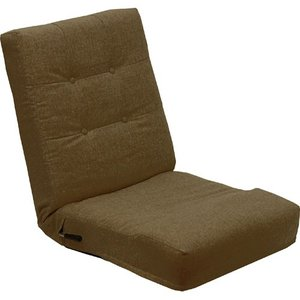 リクライニング座椅子 座椅子 レバー式 一人掛け座椅子 レバー式リクライニング座椅子 ブラウン レバー式リクライニング リクライニングチェア 一人掛けソファ|harda-kagu