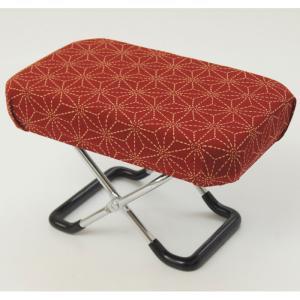 正座椅子 正座器 正座いす 正座イス 正座用椅子 小 刺子柄 エンジ 快適 座敷 座敷用 らくらく 正座用 和室 椅子 いす イス チェア|harda-kagu