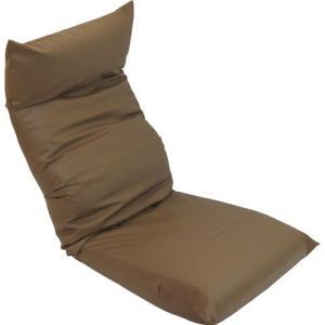 リクライニング座椅子 座椅子 スワロッサー 合皮 レザー ブラウン 幅55cm チェア リクライニング リクライニングソファ リクライニングチェア フロアチェア|harda-kagu