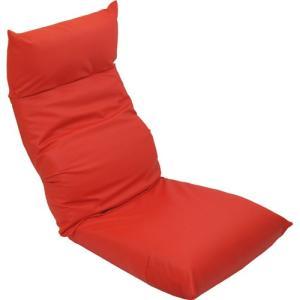 リクライニング座椅子 座椅子 スワロッサー 合皮 レザー レッド 幅55cm チェア リクライニング リクライニングソファ リクライニングチェア フロアチェア|harda-kagu