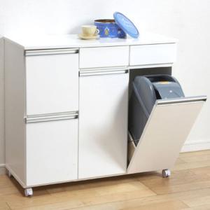 食器棚収納 レンジ台 カウンター ゴミ箱内蔵キッチンカウンター harda-kagu