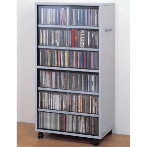 両面CD コミックラック キャスター付 ワイド 幅53cm 高さ104cm シルバー ブラック 幅530 奥行350 高さ1035mm 収納家具 DVDラック|harda-kagu