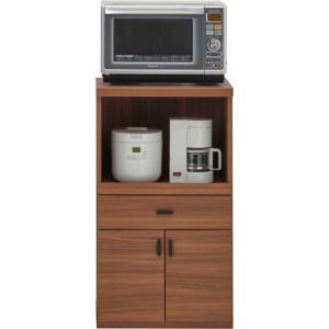 レンジ台 幅55cm 高さ97cm スマートキッチン リアルウォールナット キッチンカウンター カウンター 家電 収納 食器棚 キッチン ダイニング キャビネット 棚 harda-kagu
