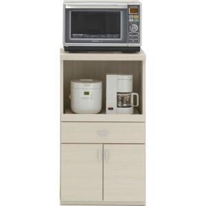 レンジ台 幅55cm 高さ97cm スマートキッチン ホワイトウッド キッチンカウンター カウンター 家電 収納 食器棚 キッチン ダイニング キャビネット 棚 harda-kagu
