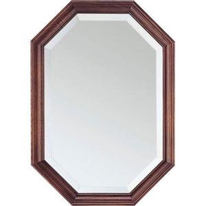 壁掛け鏡 ウォールミラー 鏡 ミラー 壁掛けミラー 壁掛け 吊鏡 八角 八角形 八角ミラー 風水 幅35cm オーク 高さ50 かがみ 壁面 壁面鏡 玄関 リビング 洗面所|harda-kagu