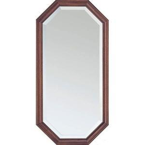 壁掛け鏡 ウォールミラー 鏡 ミラー 壁掛けミラー 壁掛け 吊鏡 八角 八角形 八角ミラー 風水 幅35cm オーク 高さ70 かがみ 壁面 壁面鏡 玄関 リビング 洗面所|harda-kagu