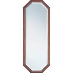 壁掛け鏡 ウォールミラー 鏡 ミラー 壁掛けミラー 壁掛け 吊鏡 八角 八角形 八角ミラー 風水 幅35cm オーク 高さ95 かがみ 壁面 壁面鏡 玄関 リビング 洗面所|harda-kagu