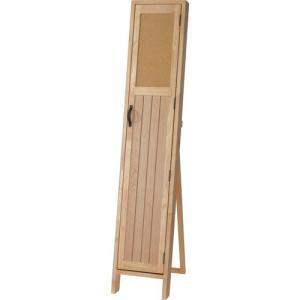 スタンドミラー 姿見 ミラー 鏡 POCO コルク扉付き 扉付き 扉 収納 コルクボード 幅28 高さ145 スリム おしゃれ かわいい|harda-kagu