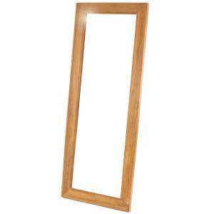 チーク木製立て掛け式ウォールミラー 鏡 大型 全身 姿見 ウォールミラー スタンドミラー チーク 大判 木製|harda-kagu