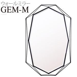 アイアンウォールミラー 高さ79cm GEM Mサイズ ミラー 壁掛けミラーアンティーク調ミラー 化粧 化粧鏡 玄関 壁用 シンプル メイク鏡 八角 おしゃれ|harda-kagu
