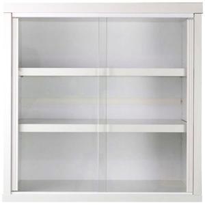 食器棚 ミニ食器棚 引き戸 幅45cm 高さ45cm ホワイト 本棚 小さい カップボード 食器 キッチン収納 収納 キッチン 収納棚 キッチンラック 戸棚 キャビネット 棚|harda-kagu
