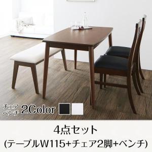ダイニングテーブルセット 4点セット テーブル幅115+チェ...
