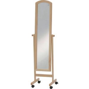 スタンドミラー 姿見 ミラー 鏡 アーチ型 キャスター付き ナチュラル キャスターミラー キャスター かがみ 全身鏡 スタンド 姿見鏡 全身ミラー 玄関 リビング|harda-kagu