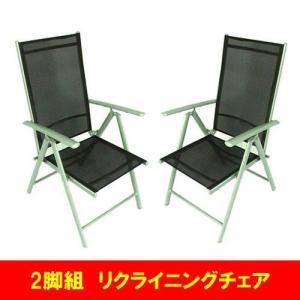 2脚組 リクライニング ガーデンチェア 折りたたみ式 椅子 Chair ガーデンファニチャー 10DN-C 送料無料 harebare-shop