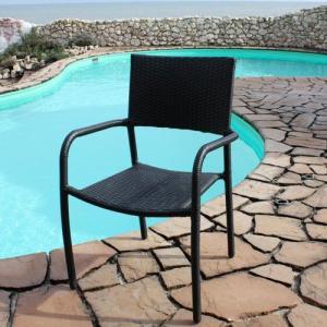ガーデンチェア 椅子 Chair 手編み高級人工ラタン ウィッカー ガーデンファニチャー 12DN-C 送料無料 harebare-shop
