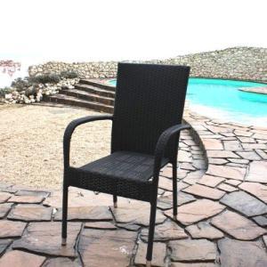 ハイバック ガーデンチェア 椅子 Chair 手編み高級人工ラタン ウィッカー ガーデンファニチャー 14DN-C 送料無料|harebare-shop