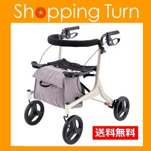 歩行車 介護用品 高齢者 ショッピングターン アロン化成|harika-gift