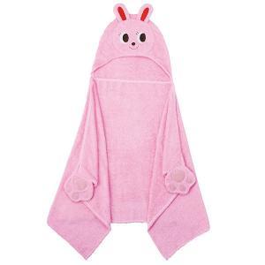 ミキハウス アニマルフード付きバスタオル ピンク c8028-075 【出産祝い・結婚祝い】【ミキハウス】【タオル】【アニマル】【ベビー】【赤ちゃん】|harika-gift